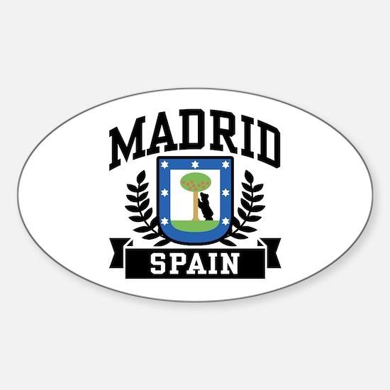 Madrid Spain Sticker (Oval)