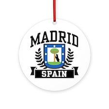 Madrid Spain Ornament (Round)