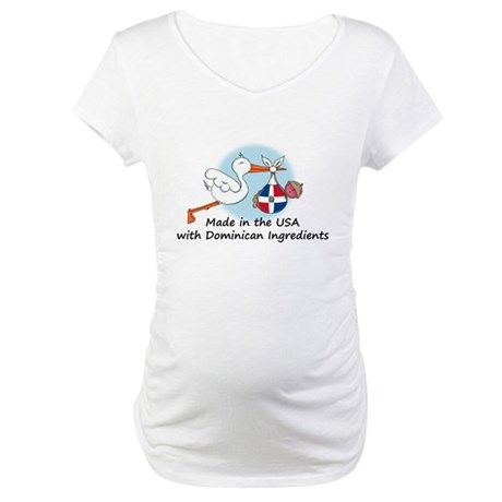 Stork Baby Dominican Rep. USA Maternity T-Shirt