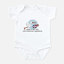 Stork Baby Dominican Rep. USA Infant Bodysuit