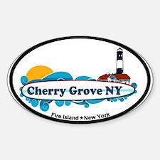 Cherry Grove - Fire Island Sticker (Oval)