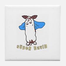 Cute Super bunny Tile Coaster