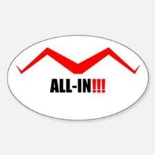 "pokerboobsetc...""all-in"" Oval Decal"