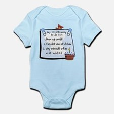1st Birthday To Do's Blue Infant Bodysuit