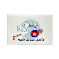 Stork Baby Cambodia Rectangle Magnet