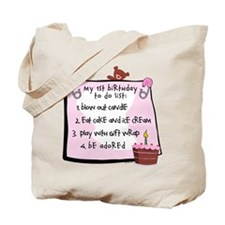 1st Birthday To Do's Pink Tote Bag