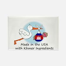 Stork Baby Cambodia USA Rectangle Magnet