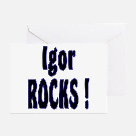 Igor Rocks ! Greeting Cards (Pk of 10)