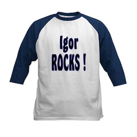 Igor Rocks ! Kids Baseball Jersey