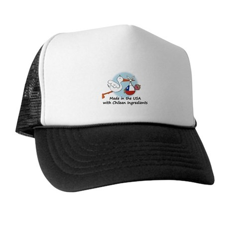 Stork Baby Chile USA Trucker Hat