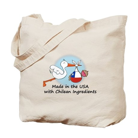 Stork Baby Chile USA Tote Bag