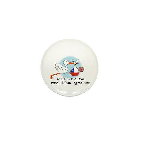 Stork Baby Chile USA Mini Button