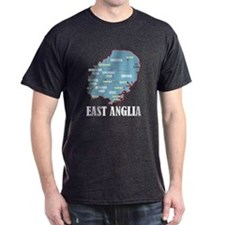 East Anglia Map T-Shirt