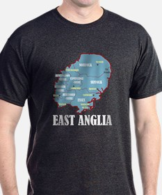East Anglia Map T-Shirt