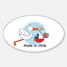 Stork Baby Chile Decal