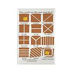 Heraldic Toast Rectangle Magnet (100 pack)