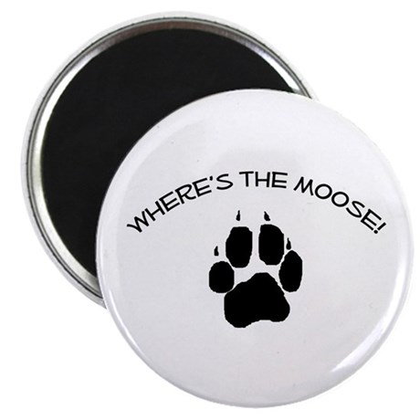 "Where's the Moose! 2.25"" Magnet (10 pack)"