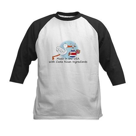 Stork Baby Costa Rica USA Kids Baseball Jersey