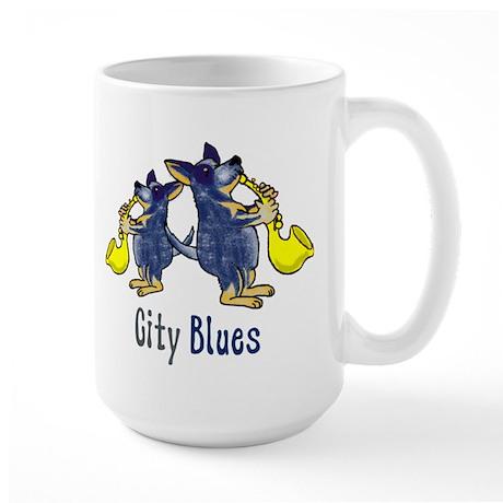 city blues blue heelers Mugs