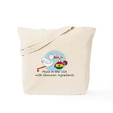 Stork Baby Ghana USA Tote Bag
