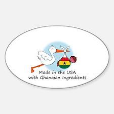 Stork Baby Ghana USA Sticker (Oval)