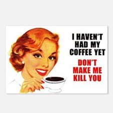 Coffee Kill You Postcards (Package of 8)