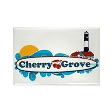 Cherry Grove - Fire Island Rectangle Magnet
