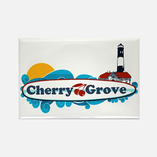 Cherry Grove - Fire Island Rectangle Magnet