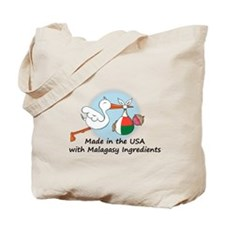 Stork Baby Madagascar USA Tote Bag