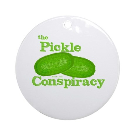 Pickle Conspiracy Ornament (Round)