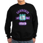 Cannabis 420 Sweatshirt (dark)