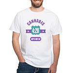 Cannabis 420 White T-Shirt