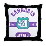 Cannabis 420 Throw Pillow