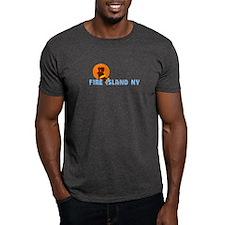 Fire Island - Sunbathing Design T-Shirt