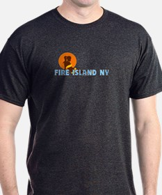 Fire Island - Sunbathing Design T-Shirt