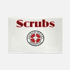 Scrubs and Sacred Heart Rectangle Magnet (10 pack)