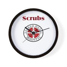 Scrubs and Sacred Heart Wall Clock