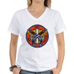 75th Air Police Women's V-Neck T-Shirt