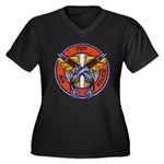 75th Air Police Women's Plus Size V-Neck Dark T-Sh