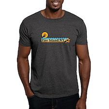 Fire Island - Beach Design T-Shirt