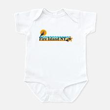 Fire Island - Beach Design Infant Bodysuit