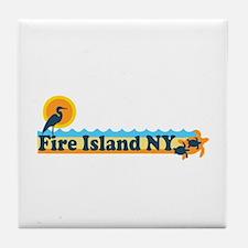 Fire Island - Beach Design Tile Coaster