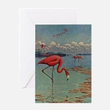 Flamingo Art Greeting Card