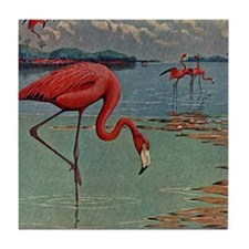 Flamingo Art Tile Coaster