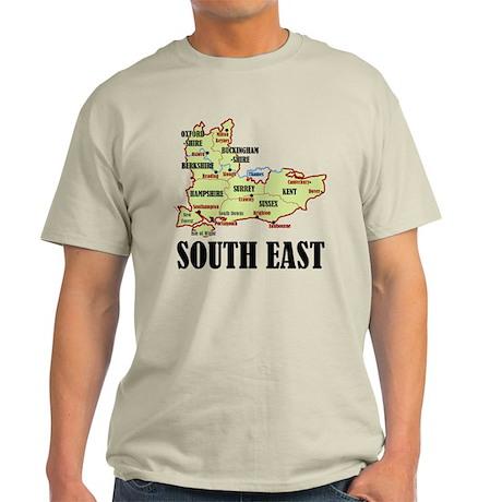 South East Map Light T-Shirt