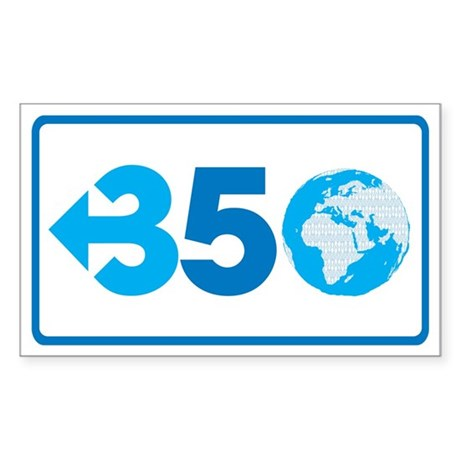350.org Sticker (Rectangle)