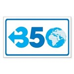 350.org Sticker (Rectangle)