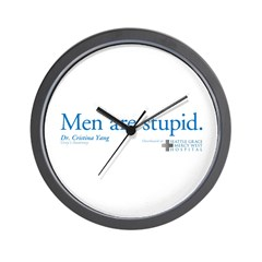 Men Are Stupid Wall Clock