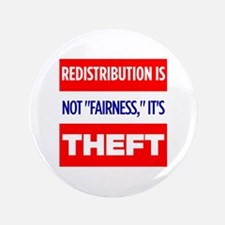 """Redistribution is Theft Button (3.5"""")"""
