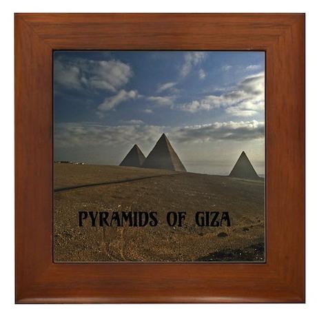Cheops Pyramid Framed Tile